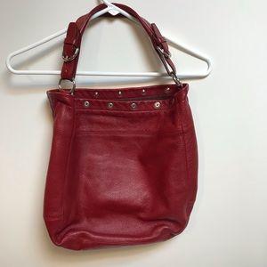 Red Frula hobo bag